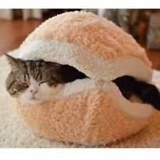 Shell Dog Cat Pet Sleeping Bed Bag Nest  Hamburger Warm Hiding House