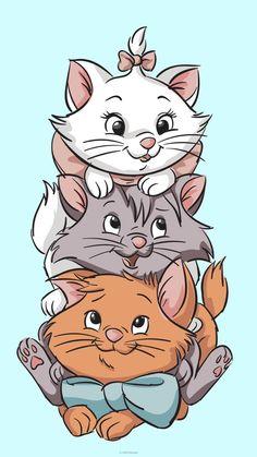 Images Disney, Disney Pictures, Cute Cartoon Wallpapers, Animes Wallpapers, Walpapers Cute, Marie Cat, Disney Collage, Disney Cats, Cute Disney Drawings