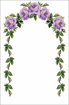 This Pin was discovered by Kad Cross Stitch Rose, Cross Stitch Borders, Cross Stitch Flowers, Cross Stitching, Cross Stitch Embroidery, Hand Embroidery, Embroidery Designs, Borders For Paper, Borders And Frames