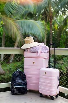 Tips from Designlovefest's Bri Emery luggage for the chic travellerTip Tip commonly refers to: Tip or TIP may also refer to: Pink Luggage, Cute Luggage, Best Carry On Luggage, Luggage Sets, Teen Luggage, New Travel, Travel Packing, Travel Luggage, Travel Style
