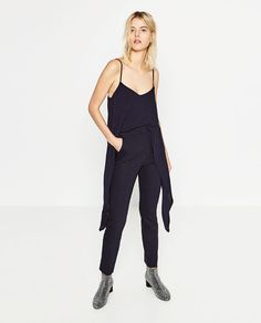 Image 1 of HIGH WAIST SKINNY TROUSERS from Zara