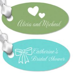 Oval Personalized Wedding Hang Tags