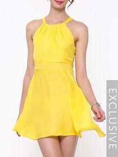 Fashionmia yellow going out dresses - Fashionmia.com