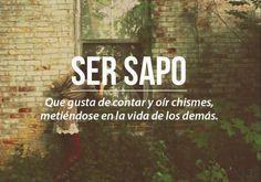 Chilean Slang: Ser sapo