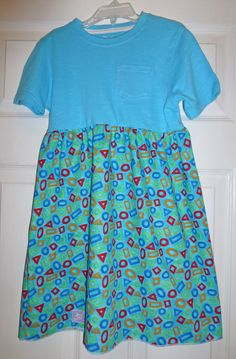 T-Shirt Dresses tutorial. Illustrated step-by-step instructions. These are for little girls, but would work for an adult, too. Might make comfy jammies, too.