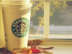 Starbucks in the fall.
