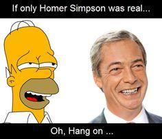 Nigel Farage .... or Homer? You decide! #voteconservative