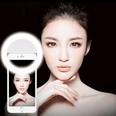 Universal Luxury LED Light Up Selfie Luminous Flash Ring Fill Clip Camera Lentes For Mobile Phone For iPhone For SAMSUNG }