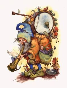 Noisy gnomes by David T. Wenzel.