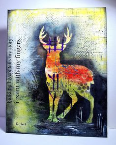 Eileen's Crafty Zone: Donna Downey Stencils and  Dylusions Paints.