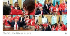 Special Olympians Celebrate With President Trump Special Olympics, Olympians, Donald Trump, Presidents, Baseball Cards, Celebrities, Celebs, Foreign Celebrities, Celebrity