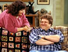 Someday, I will learn to knit or crochet or whatever it is, and make a blanket like the one in Roseanne. I would LOVE to do that!
