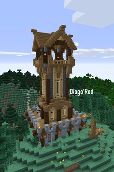 Minecraft Clock, Big Minecraft Houses, Minecraft Building Blueprints, Minecraft Cottage, Minecraft Castle, Minecraft Plans, Minecraft House Designs, Minecraft Survival, Minecraft Creations