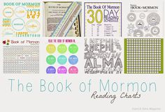 Stand & Shine Magazine: Favorite Things Friday: Book of Mormon Reading Charts