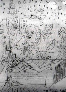Frida Kahlo, Drawings, Sketches, Dibujos, Bosquejos, 03
