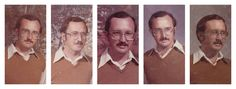 1978–1983 | This Teacher Wore The Same Exact Outfit In His Yearbook Photo Every Year For 40Years.... Lol teacher humor!