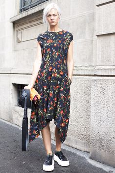 Floral maxi dress and creeper sneakers @beglamrs