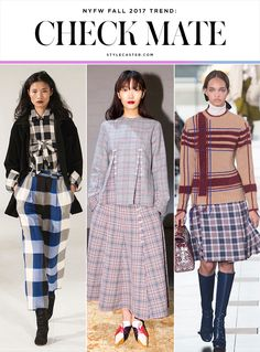 nyfw trends fall 2017 checks plaid