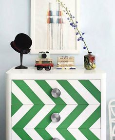 chevron painted drawers