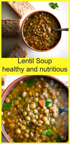 Healthy lentil soup - easy prep