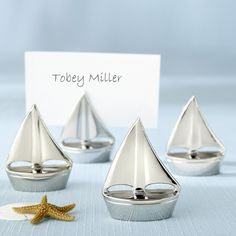 Something Blue - Kate Aspen - Place Card Holders - Shining Sails - Silver (Set of 4), R93.00 (http://www.somethingblue.co.za/kate-aspen-place-card-holders-shining-sails-silver-set-of-4/)