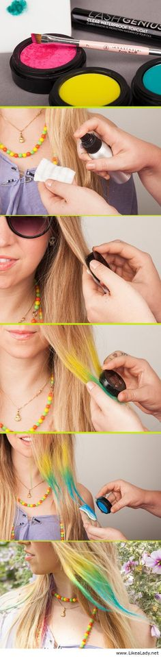 Do your own temporary, high-octane highlights in minutes