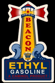Click to find out more about Beacon Ethyl Gasoline Light House Sign
