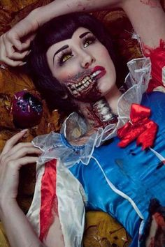 zombie snow white looking scary More