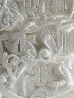 Steady as She Goes - Sculpture - Print the sulpture yourself - Detail: Steady As She Goes Sculptural piece by Like Minded Studio Branding, Schrift Design, 3d Printed Objects, Font Design, 3d Type, 3d Typography, 3d Laser, 3d Prints, Grafik Design