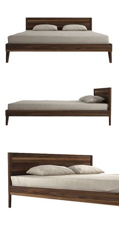 Rest well in a bedroom that's full of style - choose the delicate, easy lines of this broad platform bed. Inspired by vintage Danish Modern pieces, the smooth walnut frame opens up the room with its lo...  Find the Plateau Walnut Bed, as seen in the Dreaming of Mid-Century Collection at http://dotandbo.com/collections/dreaming-of-mid-century?utm_source=pinterest&utm_medium=organic&db_sku=ION0013-qun
