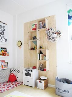 plywood reading and play corner
