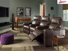 home theatre seating leather / fabric