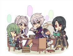 The strategists, Innes, Robin, Kiran and Soren
