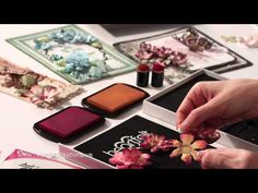 How to shape flowers: 3 Stunning Step by Step Techniques for cards card making and paper crafting - YouTube