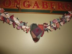 Small Antique Handmade Crazy Quilt Heart by EclecticPassion, $14.95