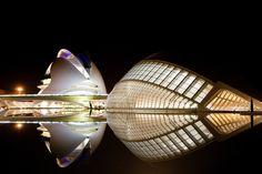 vista nocturna.. ciudad de las artes y las ciencias #Valencia