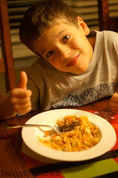 "Another ""Will Approved Meal"" stamp of approval benefiting all picky eaters world wide. Easy Bolognese!"