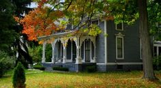 Fall has arrived in Romeo (MI) by ichbinhier @ wunderground.com, landscape, house, architecture, trees, autumn, fall, 8 oct 2010, 8/10 uploaded by poppy