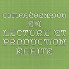 SEC. 5 Compréhension en lecture et production écrite