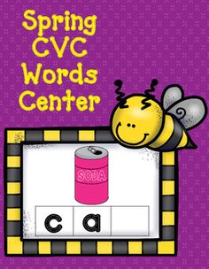 Letter Tiles are included in this CVC Word Sound Box Center. The following CVC words are included: cat, lip, bug, six, top, bed, bag, fin, kit, ham, sub, cot, box, fan, bib, gum, mug, net, hen, hop, ten, jam, pit, hut, cut, ram, fox, bus, bud, can, mad, wig, lid, mop, bun, dog
