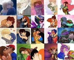 A collage of some of my favorite ships kissing!   Jelsa/Kristanna/Eugenzel/Jonavis/Leorai/Hiccstrid/Meret/SweetTooth/Geep/RaphLisa/Adrinette/Hirogo/TadaHoney/Ezrabine/Apritello/Ninya/Mod/Audler/ButterflyBog/Renetangelo/