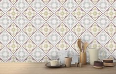 Featuring a warm colour palette including red and yellow tones, the Ajuda Warm tiles are inspired by traditional encaustic tiles. Warm Colour Palette, Warm Colors, Warm Tiles, Outdoor Tiles, Encaustic Tile, Color Tile, Kitchen Tiles, Tile Floor, Flooring