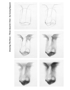 Drawing the nose 3/4 step by step by Cuong Nguyen https://www.facebook.com/icuong?fref=photo