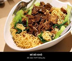 Mì bò khô - Noodle with Beef Jerky