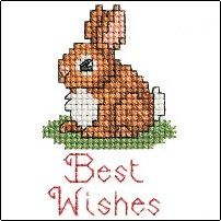 Free chart: Best wishes bunny