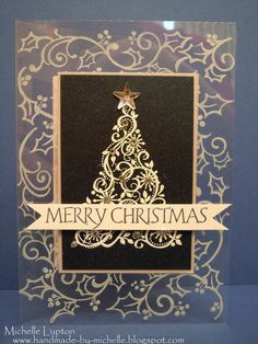 I absolutely loved Jennifer McGuire's card for holiday card boot camp today - she did an acetate card with a navy blue panel on the front, w...