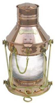 Ankerlampe Kupfer/Messing, elektrisch 230V, H: 32cm