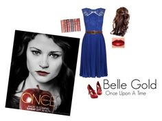 """""""Belle Gold // Once Upon A Time"""" by piperwrite ❤ liked on Polyvore featuring Oasis, Dolce&Gabbana and NARS Cosmetics"""