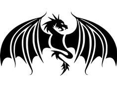 Dragon Wings Fantasy Myth Decal Wall Car Window Laptop Vinyl sticker #DacalMania13