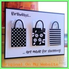 Birthdays Are For Shopping print and cut, handmade card. I saw the idea here on .-Birthdays Are For Shopping print and cut, handmade card. I saw the idea here on … Birthdays Are For Shopping print and cut, handmade card…. Birthday Cards For Women, Happy Birthday Cards, Birthday Card For Girl, Birthday Card Making, Birthday Cards Handmade Female, Female Birthday Cards, Birthday Presents, Happy Birthdays, Sister Birthday